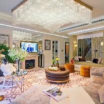 【上海实创装饰】300平混搭风格欧式古典氛围里那一抹中式情调
