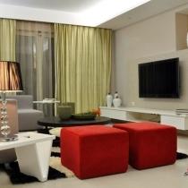 9万装100平时尚个性风情居 让红色温暖你的家