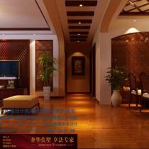 龙发装饰首席设计师许晓舵-碧水青园150平米欧式古典风格玄关