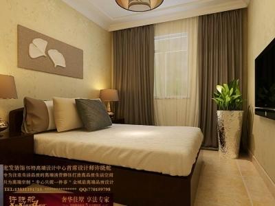 龙发装饰首席设计师许晓舵-国际城160平米中西混搭风格次卧室