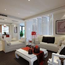 98平创意新颖的新中式婚房设计