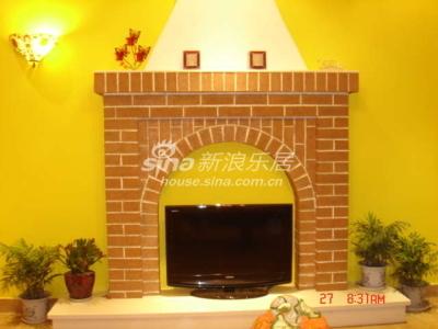 电视墙,做了壁炉的样子
