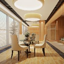 阳台采用格莱斯的雅光砖(仿古砖),纹理更清晰,完全呈现木纹肌理结构,图案变化大较之前的丝网更生动,看起来更像木材。