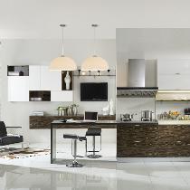 橱柜我选用了金牌厨柜铜锣湾,从厨房生活中心的设计角度切入,营造一个低调奢华的生活空间。繁华的都市生活,给自己一个心灵栖息的地方,不妨从享受顶级飨宴的厨房开始吧!