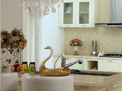 【实景装修案例】400平别墅精致舒适与品质的完美演绎-英式乡村-西厨实景图