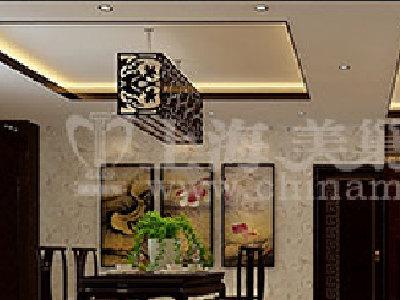 时尚新中式装修-远大理想城140平三居室-效果图集锦