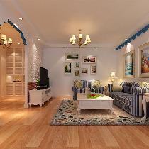 整体家装装修164平米纯美地中海三居效果图