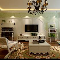 哈尔滨实创7万打造群力家园98平两居室田园风格