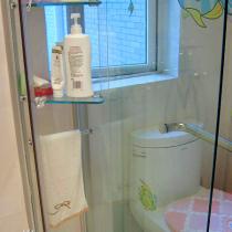 淋浴房的置物架,感觉也不错,东西放在里面漂亮又不会落灰