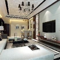 上海实创装饰-现代简约四居室装修清爽干练不拖拉