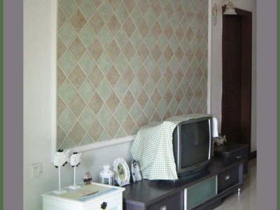 电视背景墙,电视还是旧的,现在已经换上了液晶了,图片没有拍