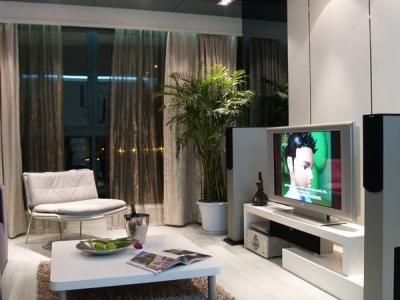 客厅中的电视柜