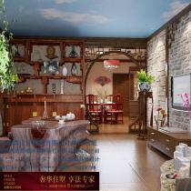 石家庄龙发装饰首席设计师许晓舵-盛世天骄中式风格客厅
