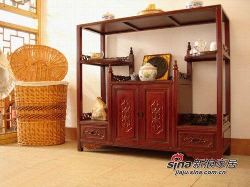 红花梨木茶水柜
