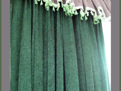 我最喜欢的窗帘!绿与紫的搭配