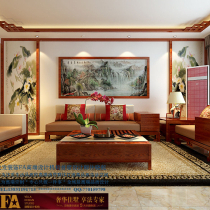 石家庄龙发装饰首席设计师许晓舵-盛世天骄160平米  中式风格 客厅