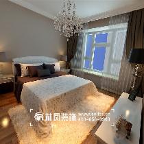 卧室主要以乳胶漆为主,因为房主担心会有污染,所以整体的墙面都是以乳胶漆调色为主线,飘窗处营造出一个休闲的空间,让午饭后可以在此处晒晒太阳,享受一下日光的温暖,窗帘与床头背景相互呼应,家具的色调都是白色为主。