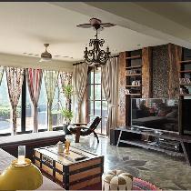 自然质朴原木风大宅 敞亮时尚的家