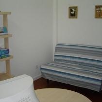 这个沙发床也是从宜家搬回来的,颜色很喜欢