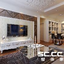 【中信山语湖】现代风格-88平米两居室装修