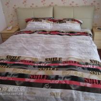 """这套床上用品叫""""蒙娜丽莎"""" 哈哈~~"""
