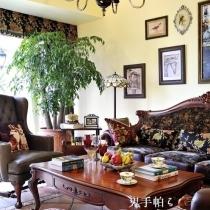 入住快1年了,房子越来越被滋养出主人的气韵,空气中弥漫着淡淡的华丽,但不张扬。沙发组沿袭浓浓的英式田园风情。