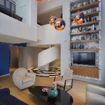 上海实创装饰打造上海松江区290平别墅混搭风格装修实景图
