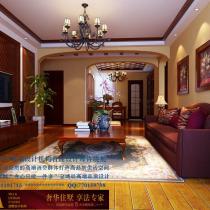 龙发装饰首席设计师许晓舵-碧水青园150平米欧式古典风格客厅