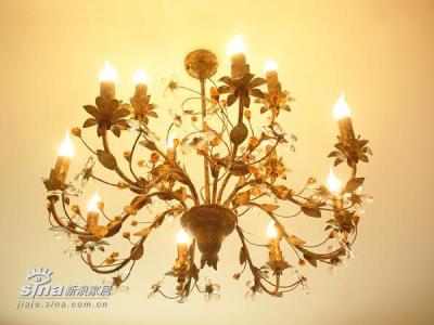 客厅灯,本来有吊环,可装上后觉得太低,有碰头的危险,就取掉变吸顶灯了。。。还是有吊环好看些。。