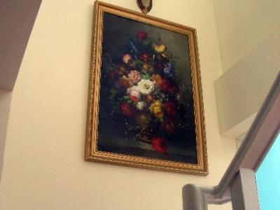老爸送的油画,是真品哦