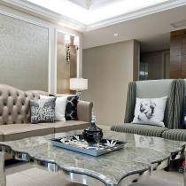 140平新古典混搭风格 体现奢华现代的生活方式