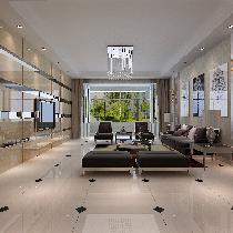 东城人家装修案例-150平米简欧风格三居室装修