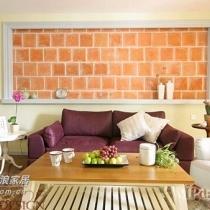原始砖沙发背景墙,还有搁板的收纳功能,时尚家庭怎能少了边桌
