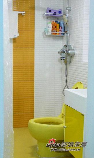 墙面的黄色瓷砖选得暗了点