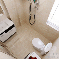 卫生间装修效果图 在狭小的空间里合理利用。