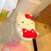 洗手间分为两个部分,淋浴间用的是红色马赛克,其他还是用的白色瓷砖