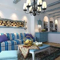 9.8万-纵横国际公寓.60平米装修.地中海风格.艳阳高照的纯美自然