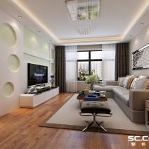 哈尔滨实创装饰打造福顺尚景124平高贵简洁现代三居
