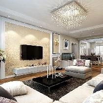 西坝河西里110平米装修简约欧式老房翻新三居室时尚美宅