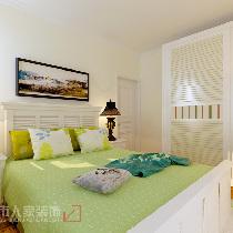 ▲卧室设计中,以地中海典型颜色为基色调,自然光线的巧妙运用,使此空间富有浪漫情怀。