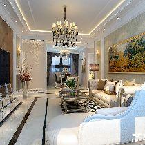 【上海实创装饰】138平简欧风格西班牙名苑三居装修设计
