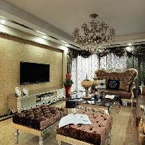 南京美度装饰-南京星雨华府150平3室新古典主义