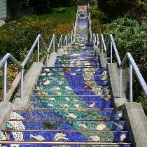 Moraga街艺术台阶的震撼