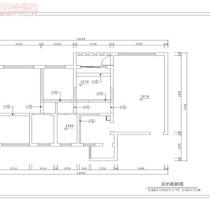 荣和大地108平米地中海风格装修案例—原始结构图