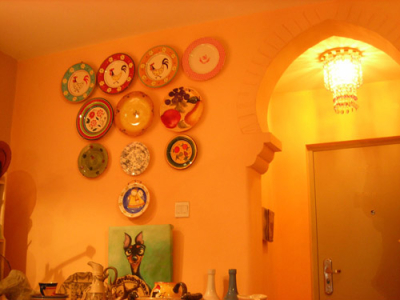 门厅与我做的灯