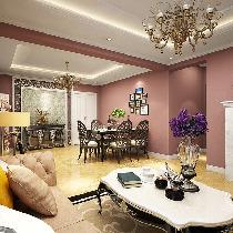 紫红色90平两居室