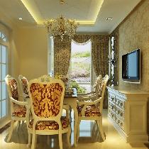 15万打造精装欧式137平米三居室