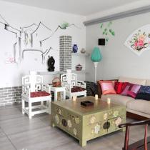 客厅沙发手绘墙