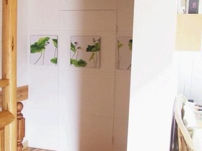楼梯一边是个小小的储藏室,做了暗门,里面一堆乱七八糟,不展示了