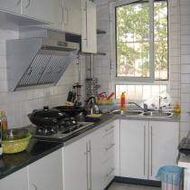 厨房,黑白为主